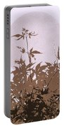 Lavender And Taupe Haiku Portable Battery Charger