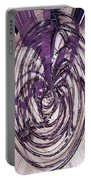 Lavender Bead Art Portable Battery Charger