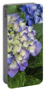 Lavender Blue Hydrangea Blossoms Portable Battery Charger