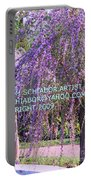 Lavender Butterfly Bush Portable Battery Charger