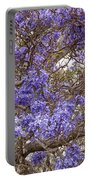 Lavender-colored Tree Blossoms Portable Battery Charger