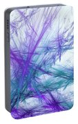 Lavender Crosshatch Portable Battery Charger