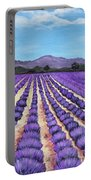 Lavender Field In Provence Portable Battery Charger