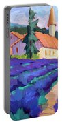 Lavender Field In St. Columne Portable Battery Charger