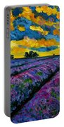 Lavender Fields At Dusk Portable Battery Charger