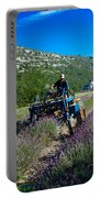 Lavender Harvest In Provence Portable Battery Charger