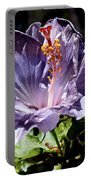 Lavender Hibiscus Portable Battery Charger