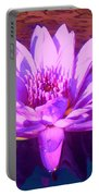 Lavender Lily Portable Battery Charger