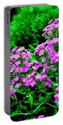 Lavender Pansies Portable Battery Charger
