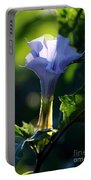 Lavender Trumpet Flower Portable Battery Charger