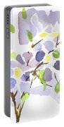 Lavender With Missouri Dogwood In The Window Portable Battery Charger