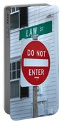 Law Street Do Not Enter Portable Battery Charger