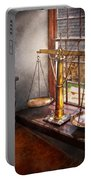 Lawyer - Scales Of Justice Portable Battery Charger by Mike Savad