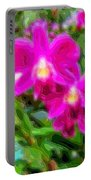 Layer Cut Out Art Flower Orchid Portable Battery Charger
