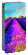 Layer Landscape Art Lavender Field Portable Battery Charger