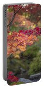 Layers Of Autumn Red Portable Battery Charger