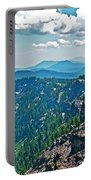 Layers Of Mountains From Watchman Overlook In Crater Lake National Park-oregon  Portable Battery Charger