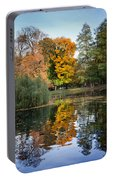 Lazienki Park Autumn Scenery In Warsaw Portable Battery Charger