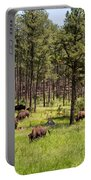 Lazily Grazing Bison Portable Battery Charger