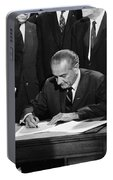 Lbj Signs Civil Rights Bill Portable Battery Charger