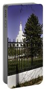 Lds Idaho Falls Temple Portable Battery Charger