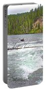 Le Hardy Rapids In Yellowstone River In Yellowstone National Park-wyoming   Portable Battery Charger