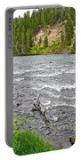 Le Hardy Rapids Of Yellowstone River In Yellowstone River In Yellowstone National Park-wyoming   Portable Battery Charger