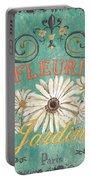 Le Marche Aux Fleurs 6 Portable Battery Charger by Debbie DeWitt