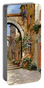 Le Porte Rosse Sulla Strada Portable Battery Charger by Guido Borelli
