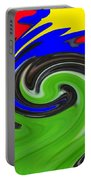 Leaf And Color Abstract Portable Battery Charger