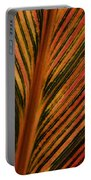 Cannas Plant Leaf Closeup Portable Battery Charger