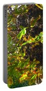 Leafy Tree Bark Image Portable Battery Charger