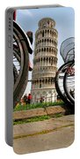 Leaning Bicycles Of Pisa Portable Battery Charger