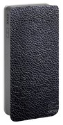 Leather Background Portable Battery Charger