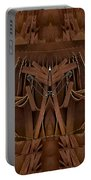 Leather Man In A Leather Collage Portable Battery Charger