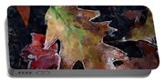 Leaves And Frost Portable Battery Charger