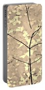 Leaves Fade To Beige Melody Portable Battery Charger by Jennie Marie Schell