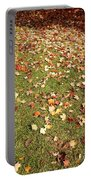 Leaves On Grass Portable Battery Charger