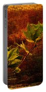 Leaves On Texture Portable Battery Charger