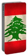 Lebanon Flag Vintage Distressed Finish Portable Battery Charger