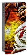 Lebron James Art Poster Portable Battery Charger