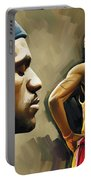Lebron James Artwork 1 Portable Battery Charger
