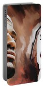 Lebron James Artwork 2 Portable Battery Charger