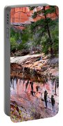 Ledge At Emerald Pools In Zion National Park Portable Battery Charger