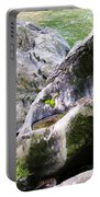 Ledge Worn Smooth By Centuries Of Water And Ice Portable Battery Charger
