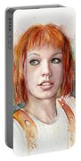 Leeloo Portrait Multipass The Fifth Element Portable Battery Charger