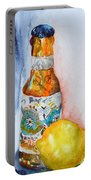 Lemon And Pilsner Portable Battery Charger by Beverley Harper Tinsley
