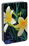 Lemon Lily Blooms Portable Battery Charger