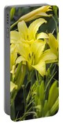 Lemon Yellow Daylilies Portable Battery Charger
