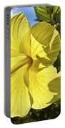 Lemon Yellow Hibiscus Portable Battery Charger